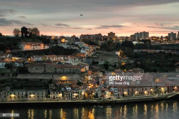 Evening view from Porto's Ribeira
