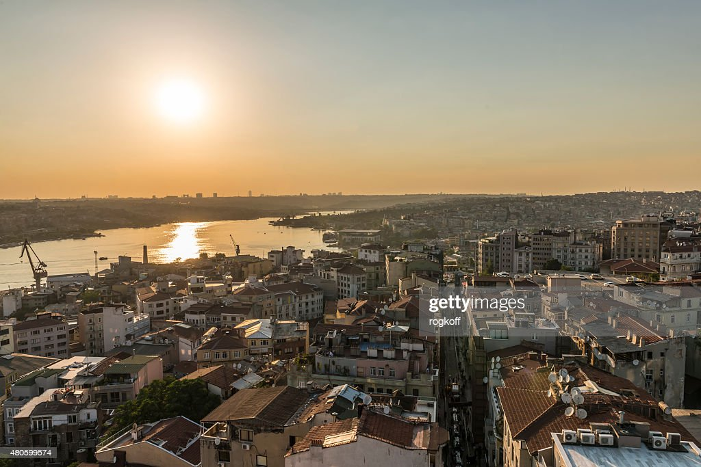 Evening view of Istanbul : Stock Photo