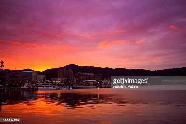 Evening view of Lake Biwa