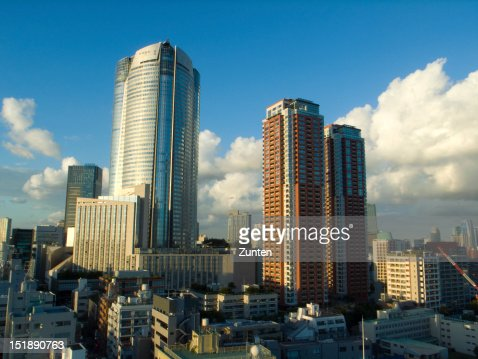 Evening view of Roppongi Hills : Stock Photo
