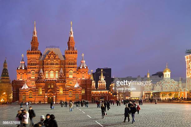 Evening view of The National State Historical Museum in Red Square