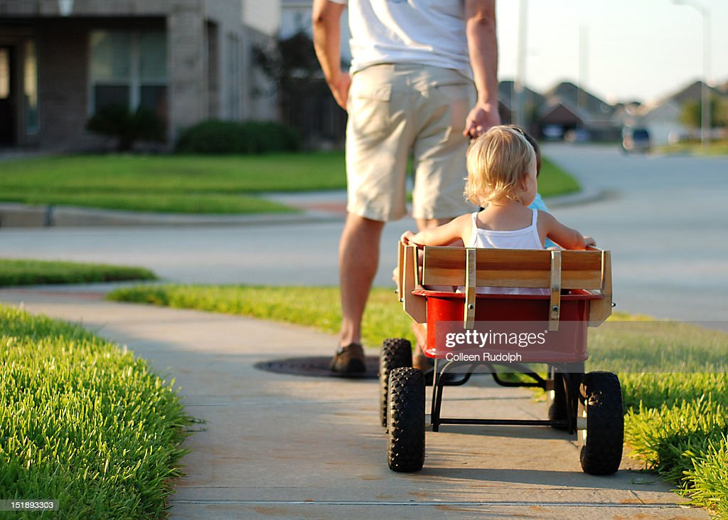 Evening Wagon ride with daddy