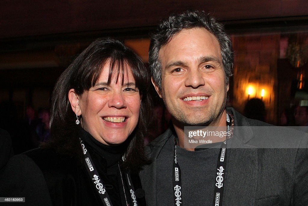Event Chair Donna Gruneich and Actor Mark Ruffalo attends An Artist at the Table: Dinner Program during the 2014 Sundance Film Festival at Stein Eriksen Lodge on January 16, 2014 in Park City, Utah.