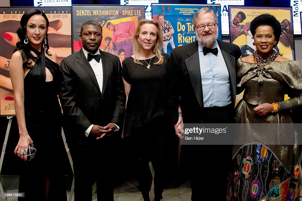 Event Chair Eboni Gates, Eric Barkley, Susan Rockefeller, David Rockefeller Jr. and event chair Sherry Bronfman attend The Museum of Modern Art's Jazz Interlude Gala at MOMA on December 12, 2012 in New York City.