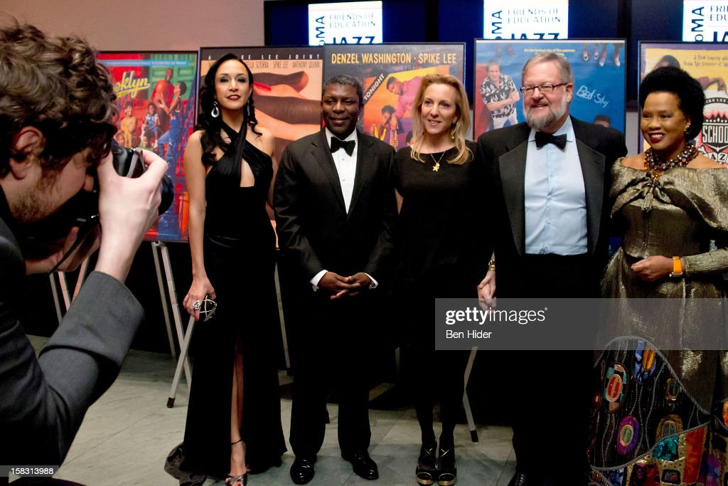 Event Chair Eboni Gates, event chair Eric Barkley, Susan Rockefeller, David Rockefeller Jr. and event chair Sherry Bronfman attend The Museum of Modern Art's Jazz Interlude Gala at MOMA on December 12, 2012 in New York City.