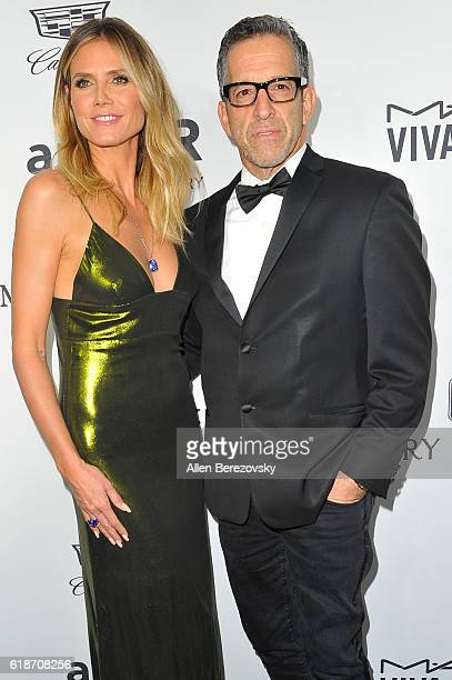 Event chair Heidi Klum and amfAR Chairman of the Board Kenneth Cole attend amfAR's Inspiration Gala Los Angeles at Milk Studios on October 27 2016 in...