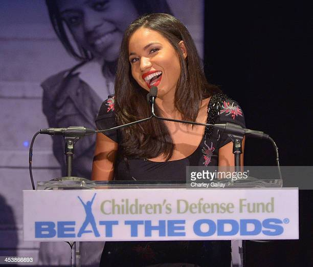 Event CoChair Jurnee Smollett speaks onstage at the 23rd Annual Beat The Odds Awards hosted by Children's Defense FundCalifornia on December 5 2013...