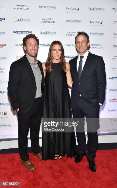 Event cochair Marine veteran Founder of Headstrong Zach Iscol Alexi Ashe and Host Seth Meyers attend the Headstrong Gala 2017 at Pier 60 Chelsea...