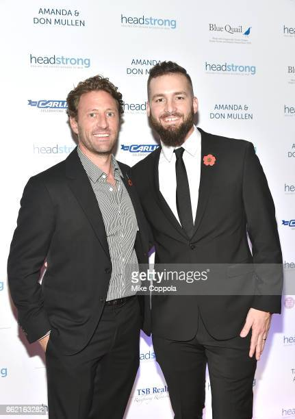 Event cochair Marine veteran Founder of Headstrong Zach Iscol and Veteran Tim Brutsman attend the Headstrong Gala 2017 at Pier 60 Chelsea Piers on...