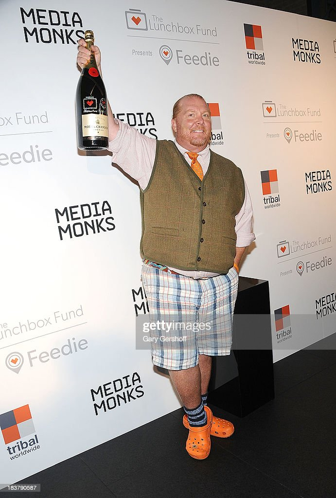 Event Co-Chair <a gi-track='captionPersonalityLinkClicked' href=/galleries/search?phrase=Mario+Batali&family=editorial&specificpeople=669889 ng-click='$event.stopPropagation()'>Mario Batali</a> attends the Lunchbox Fund Fall Fete 2013 at Buddakan on October 9, 2013 in New York City.