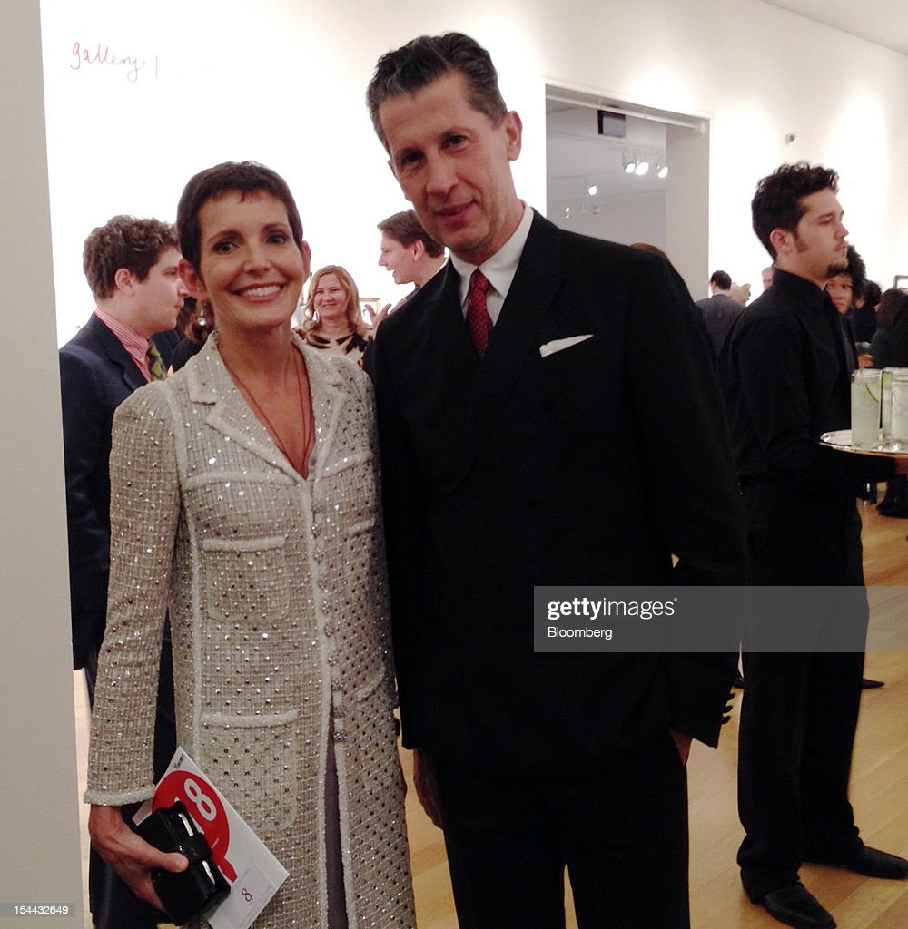 Event co-chair Maureen Chiquet, global chief executive officer of Chanel, left, and Stefano Tonchi, editor of W magazine, stand for a photograph at Sotheby's in New York, U.S., on Thursday, Oct. 18, 2012. 'Coco Chanel was a big supporter of the arts and its natural thing for us to do,' Chiquet said about the company's support of the New York Academy of Art. 'It teaches fundamental art skills in a very contemporary way,' she said. Photo: Katya Kazakina/Bloomberg via Getty Images