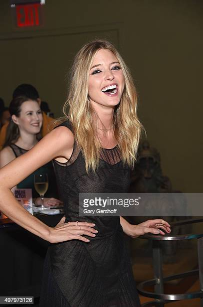 Event cochair model Martha Hunt attends the Housing Works' Fashion for Action 2015 at the Rubin Museum on November 19 2015 in New York City