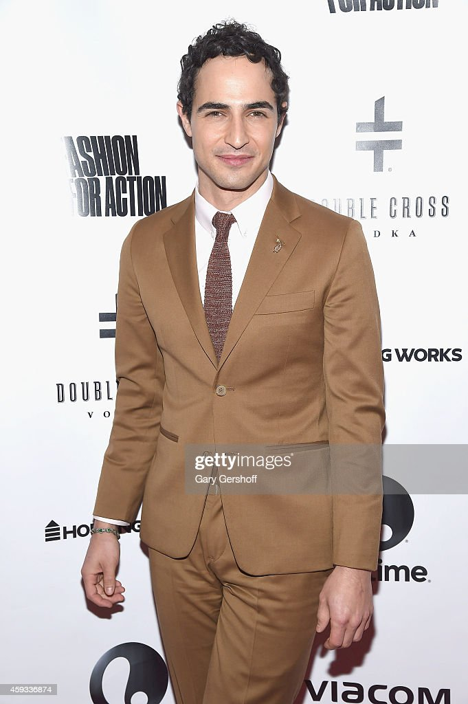 Event cochair Zac Posen attends Fashion For Action at The Rubin Museum of Art on November 20 2014 in New York City