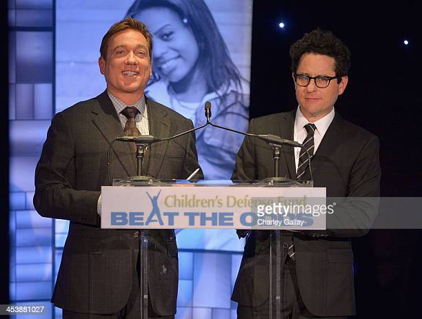 Event CoChairs Kevin Huvane and JJ Abrams speak onstage at the 23rd Annual Beat The Odds Awards hosted by Children's Defense FundCalifornia on...