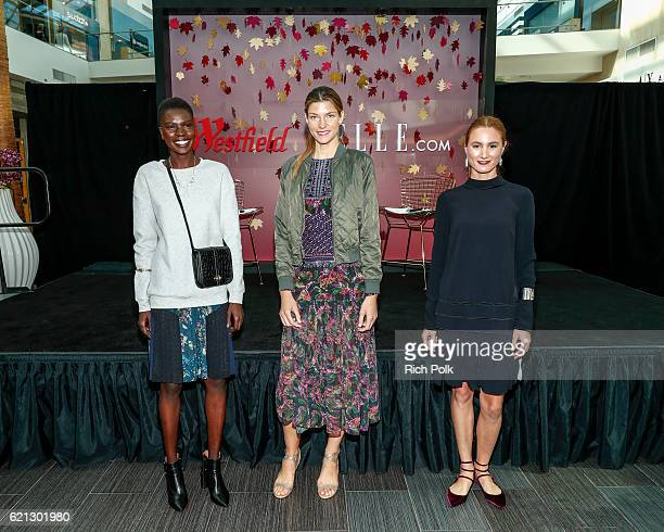 Event fashion models pose at the Westfield Topanga x Ellecom Fall Trend Report at Westfield Topanga on November 5 2016 in Canoga Park California