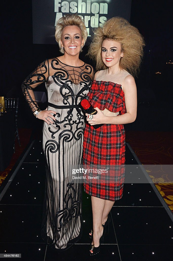 Event founder Tessa Hartmann (L) and Tallia Storm arrive at the Scottish fashion invasion of London at the 9th annual Scottish Fashion Awards at 8 Northumberland Avenue on September 1, 2014 in London, England.
