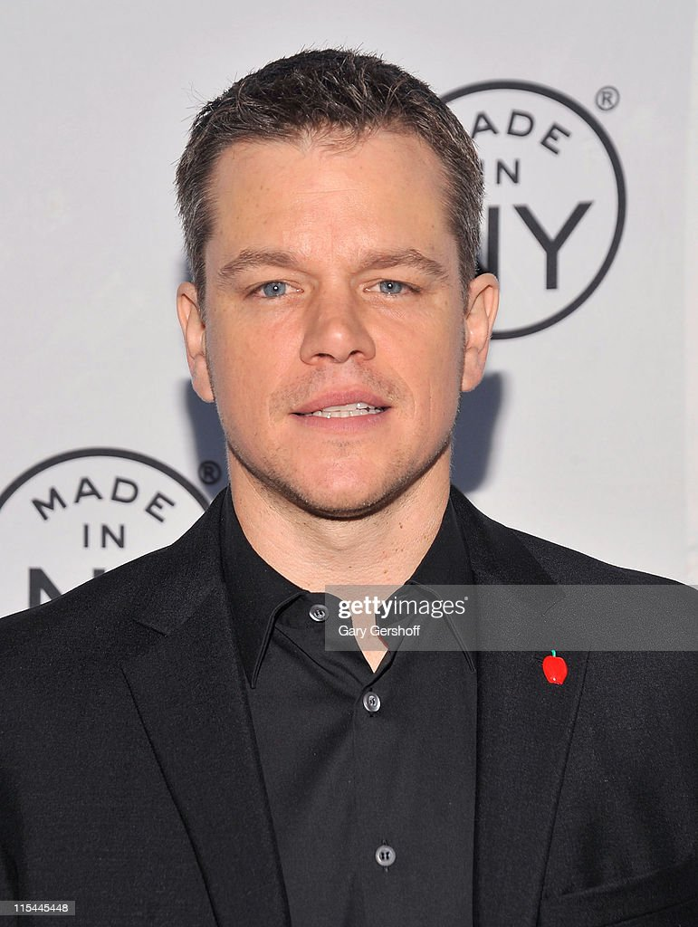 Event honoree, actor Matt Damon attends the 6th annual Made In NY awards at Gracie Mansion on June 6, 2011 in New York City.