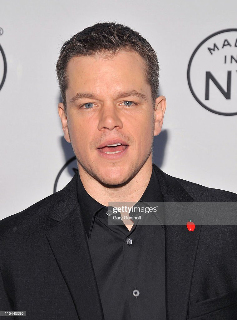 Event honoree, actor <a gi-track='captionPersonalityLinkClicked' href=/galleries/search?phrase=Matt+Damon&family=editorial&specificpeople=202093 ng-click='$event.stopPropagation()'>Matt Damon</a> attends the 6th annual Made In NY awards at Gracie Mansion on June 6, 2011 in New York City.