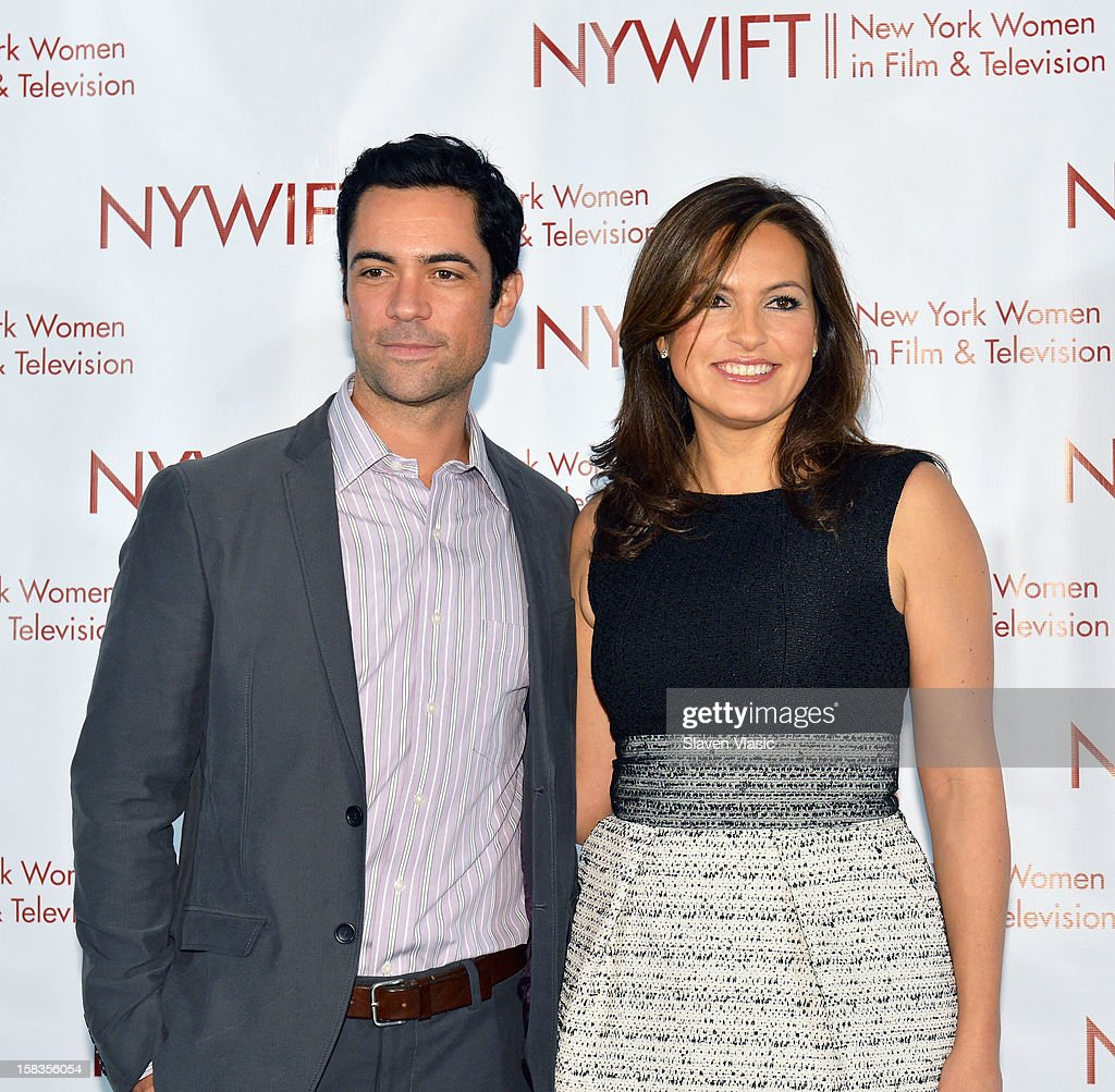 Event honoree, actress Mariska Hargitay (R) and actor Danny Pino attend 2012 New York Women In Film And Television Muse Awards at Grand Ballroom, New York Hilton on December 13, 2012 in New York City.