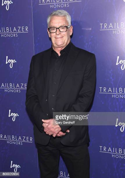 Event honoree American AIDS and LGBT rights activist Cleve Jones attends Logo's 2017 Trailblazer Honors Awards show at Cathedral of St John the...