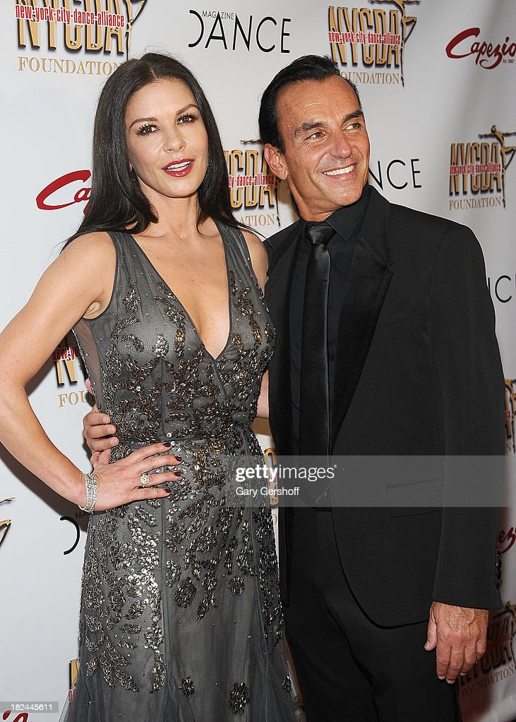 Event honoree Catherine Zeta-Jones (L) and NYC Dance Alliance Executive Director Joe Lanteri attend the 2013 NYC Dance Alliance Foundation Gala at the NYU Skirball Center on September 29, 2013 in New York City.