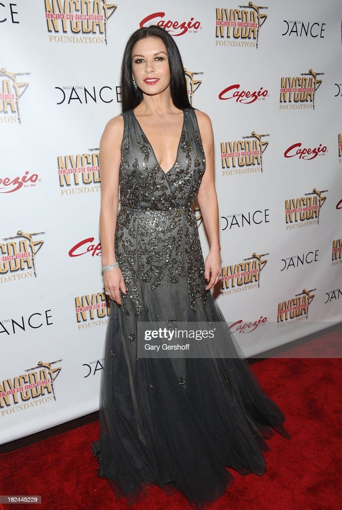 Event honoree Catherine Zeta-Jones attends the 2013 NYC Dance Alliance Foundation Gala at the NYU Skirball Center on September 29, 2013 in New York City.