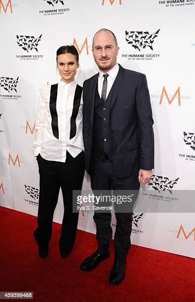 Event honoree director Darren Aronofsky and Brandi Milbradt attend 'To the Rescue New York' 60th Anniversary Gala at Cipriani 42nd Street on November...