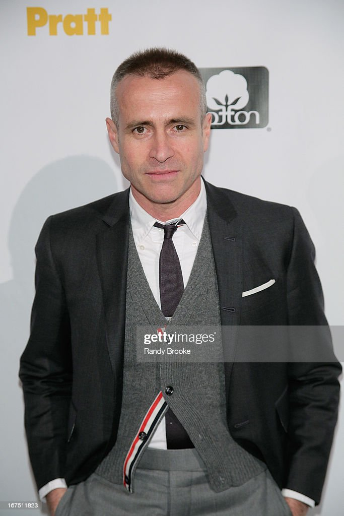 Event Honoree fashion designer Thom Browne on the red carpet before the 114th Annual Pratt Institute Fashion Show at Center 548 on April 25, 2013 in New York City.