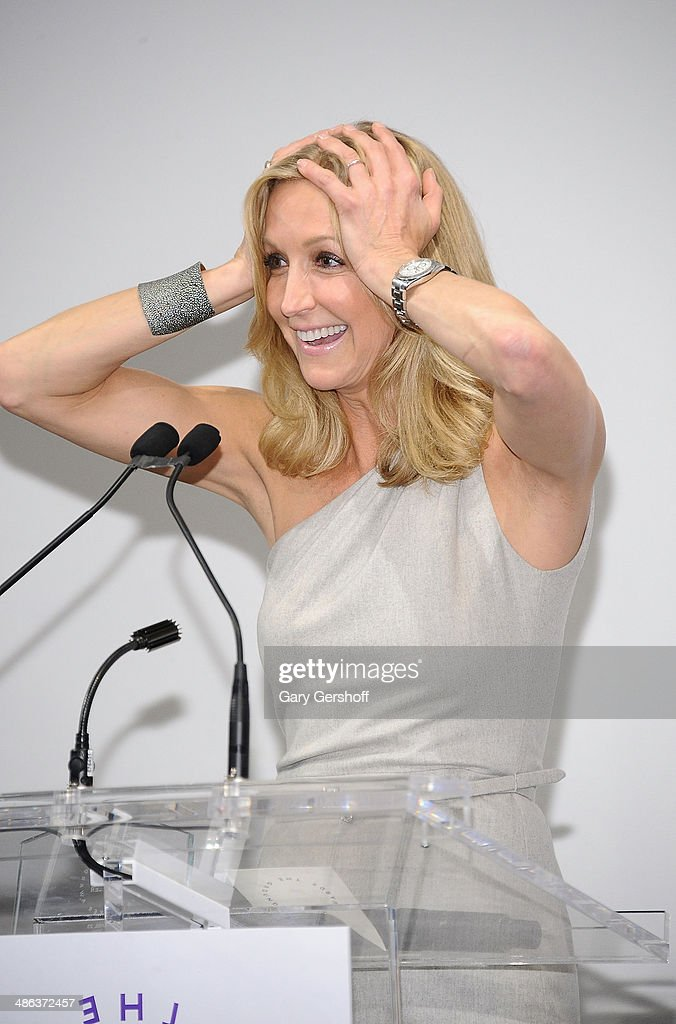 Event honoree <a gi-track='captionPersonalityLinkClicked' href=/galleries/search?phrase=Lara+Spencer+-+Journalist&family=editorial&specificpeople=240321 ng-click='$event.stopPropagation()'>Lara Spencer</a> speaks on stage at Housing Works Groundbreaker Awards Dinner at The Metropolitan Pavillion on April 23, 2014 in New York City.