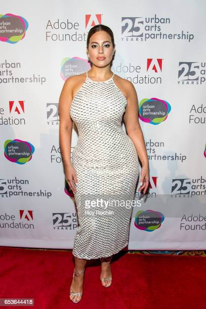 Event honoree model Ashley Graham attends the Urban Arts Partnership 25th Anniversary Benefit at Cipriani Wall Street on March 15 2017 in New York...