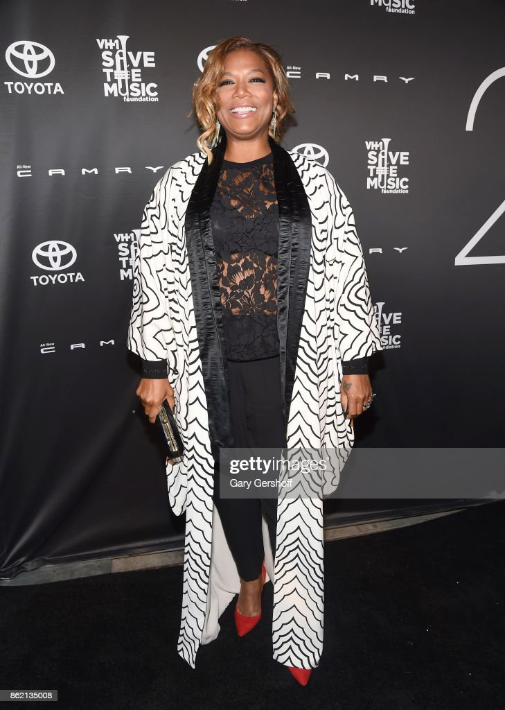 Event honoree Queen Latifah attends VH1 Save The Music Foundation #TurnItUpTo20 gala at SIR Stage37 on October 16, 2017 in New York City.