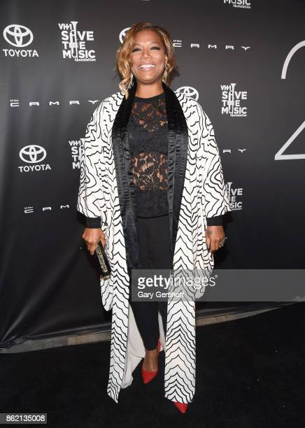 Event honoree Queen Latifah attends VH1 Save The Music Foundation #TurnItUpTo20 gala at SIR Stage37 on October 16 2017 in New York City
