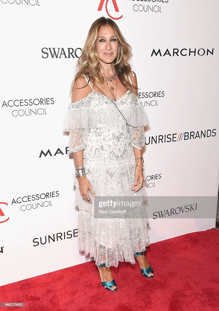 Event honoree Sarah Jessica Parker attends the 2016 Accessories Council ACE Awards at Cipriani 42nd Street on August 2 2016 in New York City