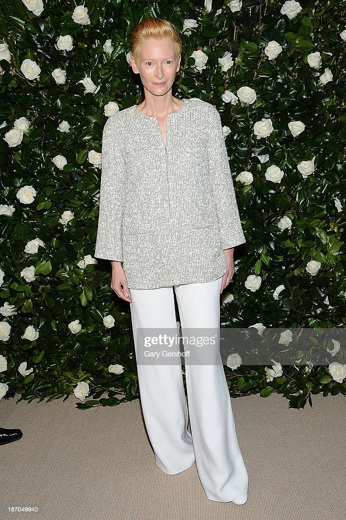 Event honoree Tilda Swinton attends the Museum of Modern Art 2013 Film benefit - A Tribute To Tilda Swinton on November 5, 2013 in New York City.