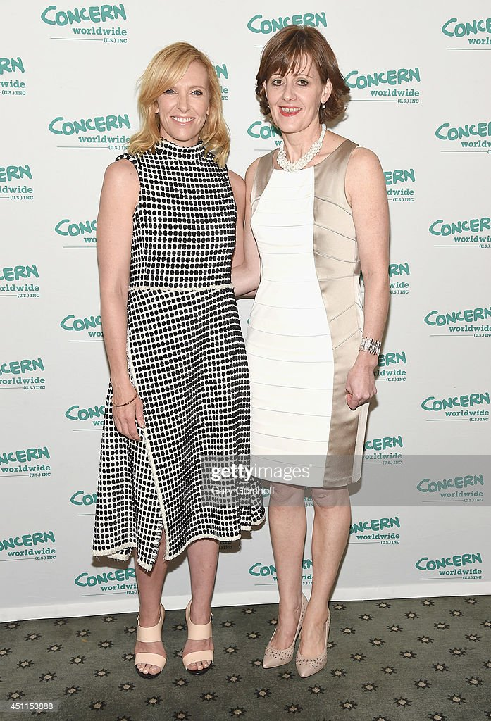 Event honorees, actress Toni Collette (L) and co-founder, Concern Worldwide, Siobhan Walsh attend the 12th 'Annual Women Of Concern' awards at The Pierre Ballroom on June 24, 2014 in New York City.