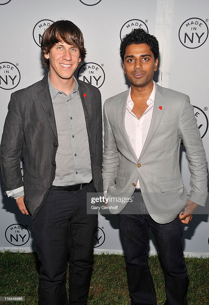 Event honorees, developers of Foursquare, <a gi-track='captionPersonalityLinkClicked' href=/galleries/search?phrase=Dennis+Crowley&family=editorial&specificpeople=6729326 ng-click='$event.stopPropagation()'>Dennis Crowley</a> (L) and Naveen Selvadurai attend the 6th annual Made In NY awards at Gracie Mansion on June 6, 2011 in New York City.