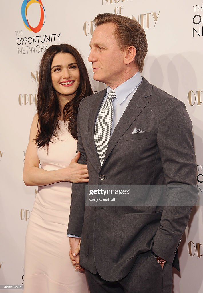Event honorees Rachel Weisz and Daniel Craig attend the 7th annual Night of Opportunity Gala at Cipriani Wall Street on April 7, 2014 in New York City.