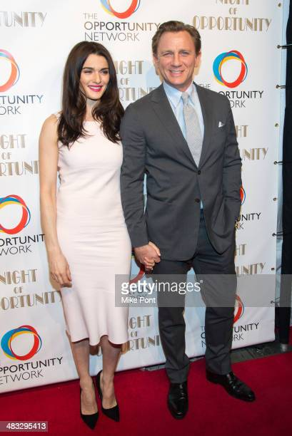 Event Honorees Rachel Weisz and Daniel Craig attend The Opportunity Networks 7th Annual Night of Opportunity at Cipriani Wall Street on April 7 2014...