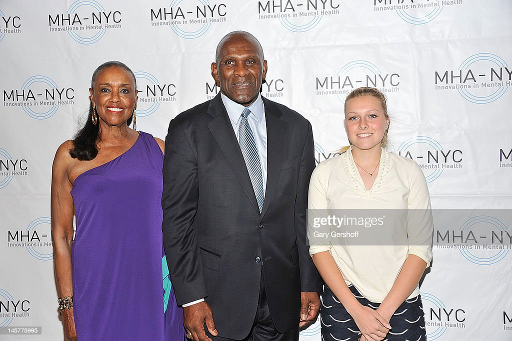 Event honorees Sylvia Mackey, <a gi-track='captionPersonalityLinkClicked' href=/galleries/search?phrase=Harry+Carson&family=editorial&specificpeople=578287 ng-click='$event.stopPropagation()'>Harry Carson</a> and Sarah Rainey attend the 2012 Mental Health Association of New York City Celebration of Hope Gala at Cipriani 42nd Street on June 5, 2012 in New York City.