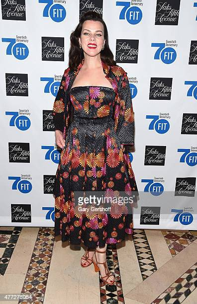 Event host actress Debi Mazar attends the 2015 FIT Gala at Cipriani 42nd Street on June 15 2015 in New York City