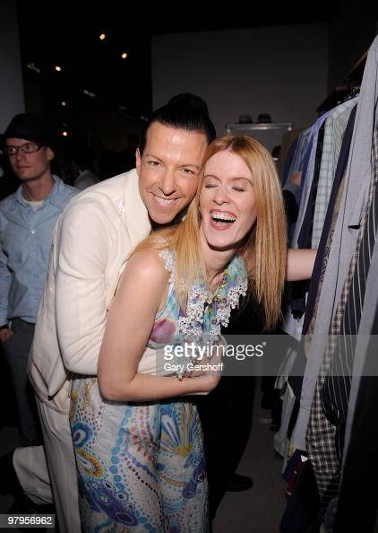 Event host and style expert Derek Warburton and television personality Alex McCord attend the grand opening VIP gala of Housing Works Hell's Kitchen...