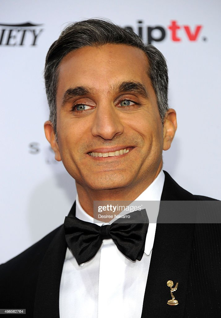 Event host <a gi-track='captionPersonalityLinkClicked' href=/galleries/search?phrase=Bassem+Youssef&family=editorial&specificpeople=9660617 ng-click='$event.stopPropagation()'>Bassem Youssef</a> attends the 43rd International Emmy Awards on November 23, 2015 in New York City.