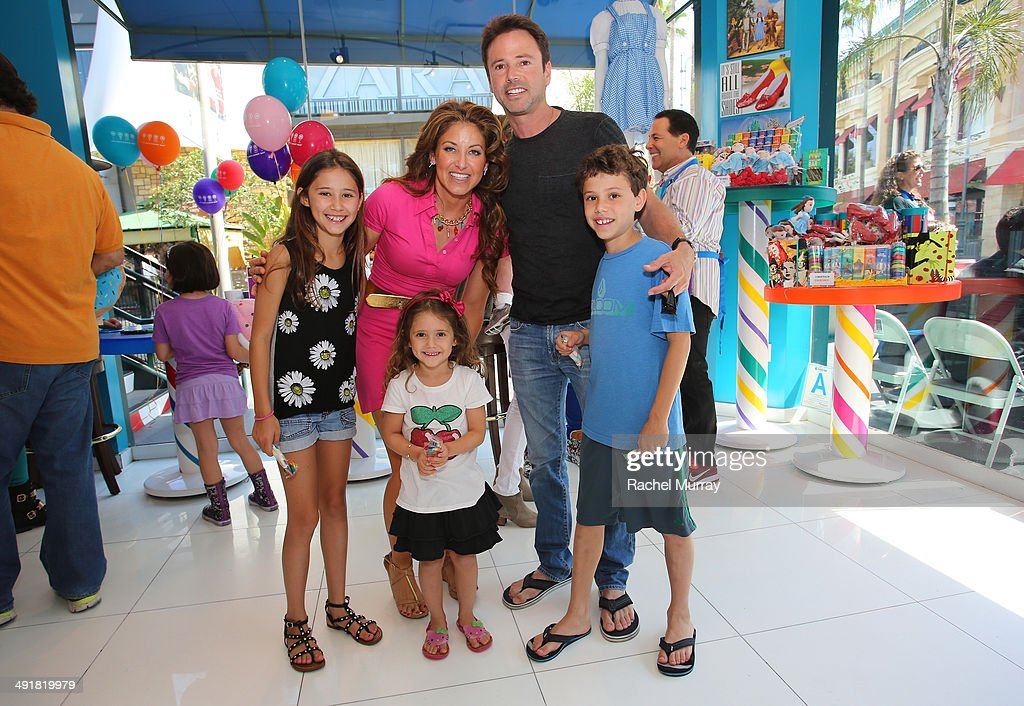 Event host <a gi-track='captionPersonalityLinkClicked' href=/galleries/search?phrase=Dylan+Lauren&family=editorial&specificpeople=243055 ng-click='$event.stopPropagation()'>Dylan Lauren</a> (2nd from left) and David Lascher attend Dylan's Candy Bar Candy Girl Collection LA Launch Event at Dylan's Candy Bar on May 17, 2014 in Los Angeles, California.