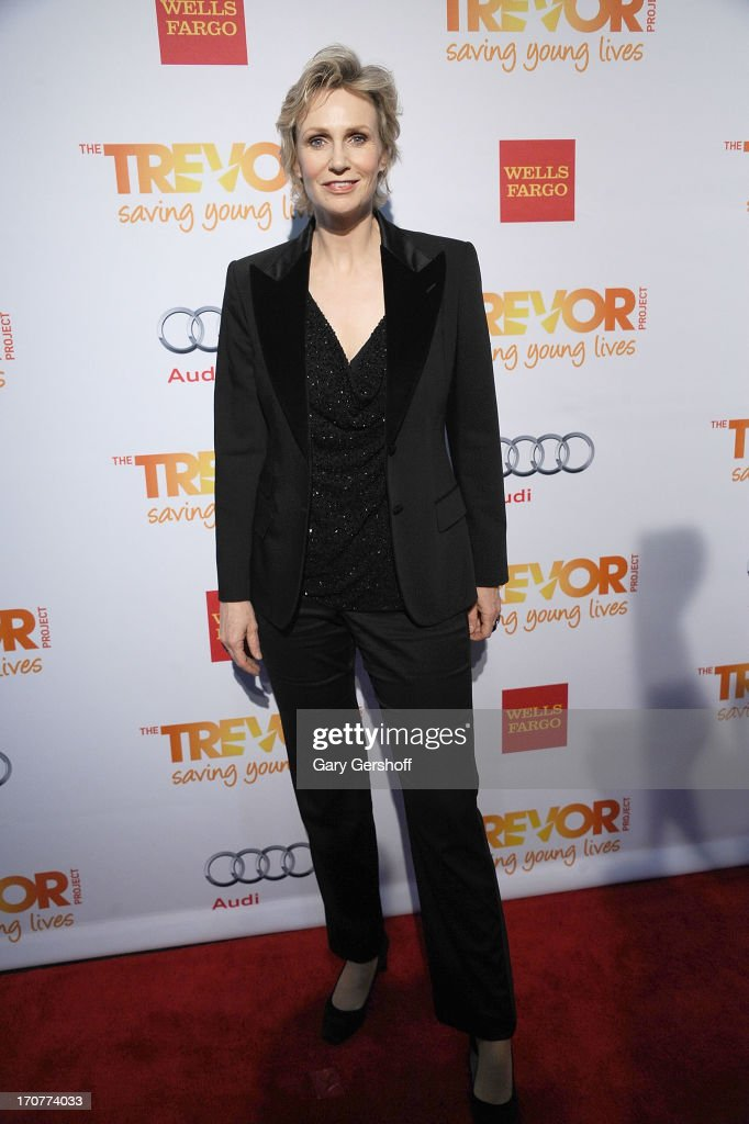 Event host <a gi-track='captionPersonalityLinkClicked' href=/galleries/search?phrase=Jane+Lynch&family=editorial&specificpeople=663918 ng-click='$event.stopPropagation()'>Jane Lynch</a> attends TrevorLIVE New York at Pier Sixty at Chelsea Piers on June 17, 2013 in New York City.