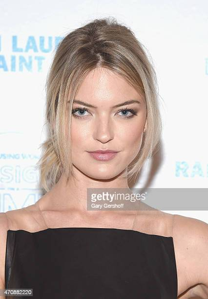 Event host model Martha Hunt attends The Housing Works Design On A Dime 2015 Event at Metropolitan Pavilion on April 23 2015 in New York City