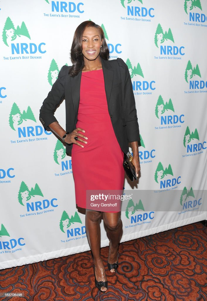 Event host, Olympic gold medalist Lisa Leslie attends the 2013 National Resource Defense Council Game Changer Awards at the Mandarin Oriental Hotel on March 14, 2013 in New York City.