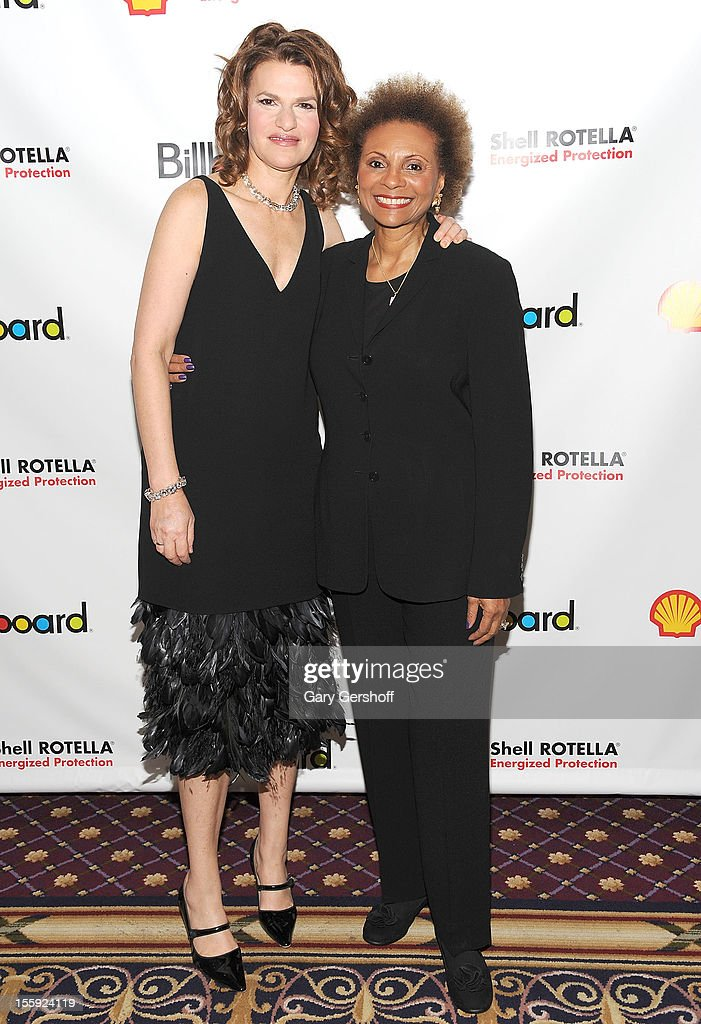 Event host <a gi-track='captionPersonalityLinkClicked' href=/galleries/search?phrase=Sandra+Bernhard&family=editorial&specificpeople=204693 ng-click='$event.stopPropagation()'>Sandra Bernhard</a> (L) and <a gi-track='captionPersonalityLinkClicked' href=/galleries/search?phrase=Leslie+Uggams&family=editorial&specificpeople=213729 ng-click='$event.stopPropagation()'>Leslie Uggams</a> attend the 2012 Billboard Touring Awards Reception at The Roosevelt Hotel on November 8, 2012 in New York City.