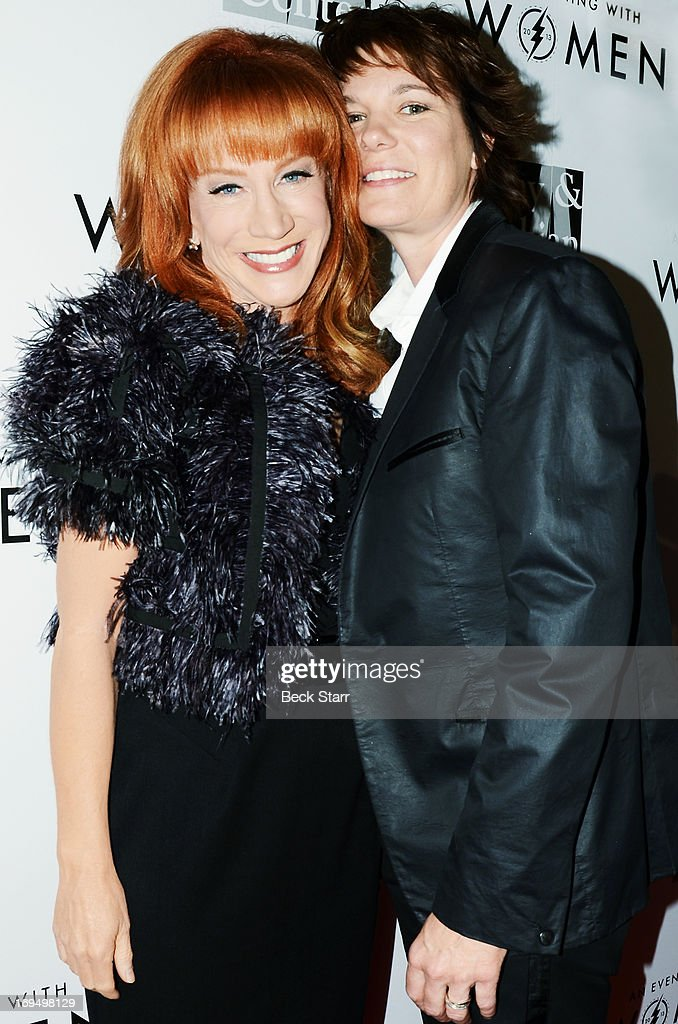 Event host/comedian <a gi-track='captionPersonalityLinkClicked' href=/galleries/search?phrase=Kathy+Griffin&family=editorial&specificpeople=203161 ng-click='$event.stopPropagation()'>Kathy Griffin</a> and actress Michelle Wolf arrive at the L.A. Gay & Lesbian Center's 2013 'An Evening With Women' gala at The Beverly Hilton Hotel on May 18, 2013 in Beverly Hills, California.