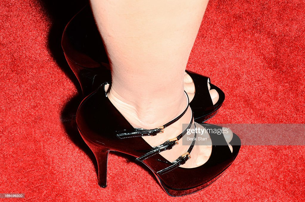 Event host/comedian <a gi-track='captionPersonalityLinkClicked' href=/galleries/search?phrase=Kathy+Griffin&family=editorial&specificpeople=203161 ng-click='$event.stopPropagation()'>Kathy Griffin</a> (shoe detail) arrives at the L.A. Gay & Lesbian Center's 2013 'An Evening With Women' gala at The Beverly Hilton Hotel on May 18, 2013 in Beverly Hills, California.