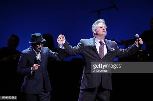Event hosts director Spike Lee and actor Alec Baldwin speak at the NYU Tisch School of the Arts 50th Anniversary Gala at Frederick P Rose Hall Jazz...